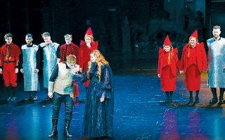 Στιγμιότυπο από την παράσταση «Μακμπέθ».