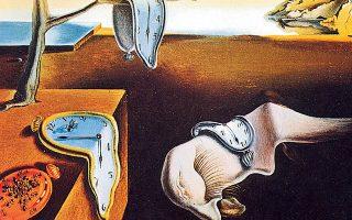 «Η εμμονή της μνήμης» του Σαλβαντόρ Νταλί (1931). Η τήξη των ρολογιών μοιάζει να συμβολίζει την απώλεια του χρόνου και τα μυρμήγκια τη φθορά.