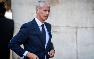 epa08281966 (FILE) French Culture Minister Franck Riester arrives at the Saint-Sulpice church for the funeral of the French director Jean-Pierre Mocky, in Paris, France, 12 August 2019 (reissued 09 March 2020). Franck Riester has been tested positive for coronavirus, his cabinet announced on 09 March 2020. Thirty people have died of COV-19, or Coronavirus in France, and over 1400 people are infected.  EPA/CHRISTOPHE PETIT TESSON