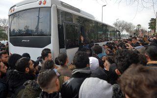 Την οργανωμένη προσπάθεια της Αγκυρας να διαμορφώσει ένα ογκώδες μεταναστευτικό κύμα με προορισμό τη χώρα μας επιβεβαιώνουν μαρτυρίες νεοαφιχθέντων στη Λέσβο, οι οποίοι ανέφεραν στην «Κ» ότι μεταφέρθηκαν πριν από μερικές ημέρες από την Κωνσταντινούπολη στα τουρκικά παράλια και πέρασαν στο νησί με αντίτιμο μόλις 50 δολαρίων το άτομο.