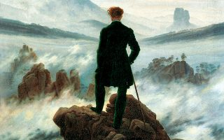 «Wanderer Above the Sea of Fog», 1818. Πίνακας του Caspar David Friedrich (1774-1840), Hamburger Kunsthalle. © VISUALHELLAS.GR