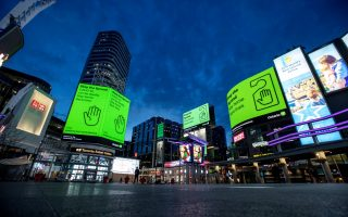 FILE PHOTO: A view of Yonge and Dundas Square, as the number of the coronavirus disease (COVID-19) cases continue to grow in Toronto, Ontario, Canada April 8, 2020.  REUTERS/Carlos Osorio/File Photo