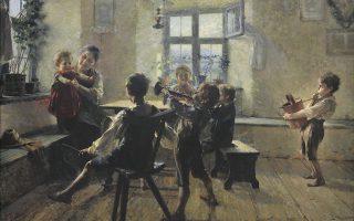 Το έργο του Γιώργου Ιακωβίδη «Παιδική συναυλία» (1900) από τη συλλογή της Εθνικής Πινακοθήκης.