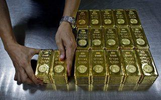 Ανοδο κατέγραψε και ο χρυσός.