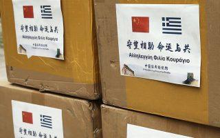 Η Κίνα δώρισε στην Ελλάδα 20.000 ιατρικές προστατευτικές μάσκες για τα ΚΥΤ στα νησιά του Ανατ. Αιγαίου και τη δομή φιλοξενίας αιτούντων άσυλο στο Κρανίδι.
