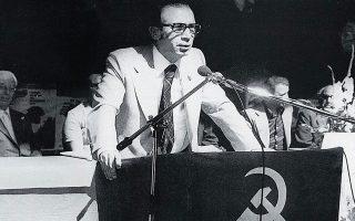Ο γ.γ. του ΚΚΕ εσωτερικού Μπάμπης Δρακόπουλος.