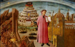 «La commedia illumina Firenze» (Η Κωμωδία φωτίζει τη Φλωρεντία), έργο του Φλωρεντινού ζωγράφου Ντομένικο ντι Μικελίνο (1417-1491). Το έργο βρίσκεται στον περίφημο καθεδρικό ναό (Ντουόμο) της Φλωρεντίας και απεικονίζει τον Δάντη, τη Φλωρεντία, την Κόλαση, το Καθαρτήριο και τον επί Γης Παράδεισο.