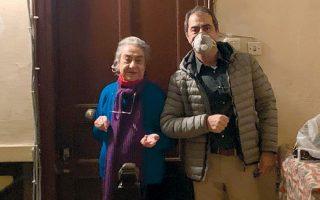Ο Λάκης Βίγκας με την κ. Ελένη Κωνσταντινίδου, στο Νιχώρι.
