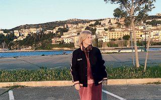 Η Ελένη Σαμαράκη στην Πύλο, πριν από λίγες ημέρες.