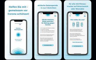 Ενα screenshot της νέας εφαρμογής που αναπτύχθηκε στη Γερμανία για να ελέγξει την εξάπλωση του κορωνοϊού.