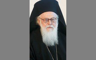 Ο Αρχιεπίσκοπος Τιράνων, Δυρραχίου και πάσης Αλβανίας Αναστάσιος.