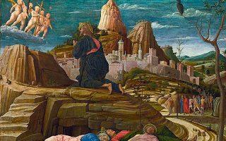 Αντρέα Μαντένια (π. 1431-1506), «Η αγωνία του Ιησού στη Γεθσημανή», έργο που ο μεγάλος Ιταλός μάστορας της Αναγέννησης φιλοτέχνησε μεταξύ 1458-1460.