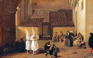 «Οι μαστιγούμενοι», έργο του Ολλανδού ζωγράφου και τυπογράφου Πίτερ φαν Λάερ (1599-1641). Τον 13ο αιώνα δημιουργήθηκε η θρησκευτική αίρεση με την ονομασία «μαστιγούμενοι» ή «αυτομαστιγούμενοι». Με το παραμικρό «αμάρτημα» προέβαιναν σε αυτομαστίγωση, προς μίμηση της μαστίγωσης του Χριστού πριν τη σταύρωσή Του.
