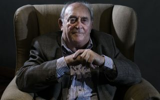 Denis Goldberg, a friend and prisoner with former South African President Nelson Mandela, attends an event of the 50th anniversary of the raid against him and other former African National Congress leaders at the Liliesleaf Farm in the outskirts of Johannesburg, South Africa, Monday, July 8, 2013. (AP Photo/Markus Schreiber)