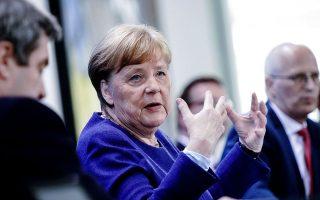Σήμερα η καγκελάριος Αγκελα Μέρκελ θα έχει τηλεδιάσκεψη με τους επικεφαλής των ομόσπονδων κρατιδίων που συνθέτουν τη Γερμανία.