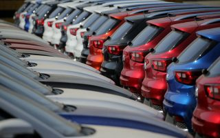 LIANYUNGANG, CHINA - MARCH 31: Domestic vehicles wait for shipment at Lianyungang port on March 31, 2019 in Lianyungang, Jiangsu Province of China. According to the National Bureau of Statistics (NBS) on Sunday, China's manufacturing Purchasing Managers' Index (PMI) in March reaches 50.5%, up from 49.2% in February. (Photo by Wang Jianmin/VCG via Getty Images)