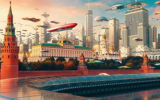 Μελλοντολογία και αστική ουτοπία σε ένα έργο του σύγχρονου Ρώσου καλλιτέχνη Εβγκένι Καζάντσεφ. Ο Ντάλιμπορ Βέζελι υποστηρίζει ότι το αρχιτεκτονικό έργο δεν είναι δυνατόν να ερμηνευθεί και να αξιολογηθεί έξω από το πολιτισμικό συνεχές που το γεννάει.