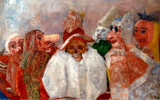 «Masks Confronting Death» (1888), λάδι σε καμβά, James Ensor (1860-1949).