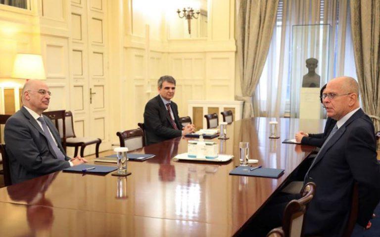 Συνάντηση Ν. Δένδια με τον πρέσβη του Ισραήλ