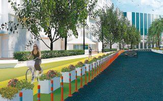 Μόλις δύο λωρίδες για κίνηση των οχημάτων προβλέπονται για την οδό Πανεπιστημίου, στο σχέδιο που εγκρίθηκε χθες από το δημοτικό συμβούλιο της Αθήνας. Μία λωρίδα θα δοθεί στο ποδήλατο, ενώ προβλέπεται, επίσης, η πεζοδρόμηση τριών λωρίδων κυκλοφορίας με επέκταση των πεζοδρομίων.