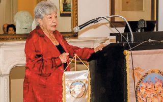 Η Λίλα Μαραγκού σε πρόσφατη εκδήλωση.