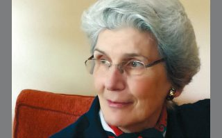 Η Μαρία Κωνσταντινίδη, πρόεδρος του σωματείου.