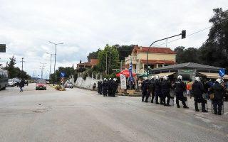 Δυνάμεις των ΜΑΤ έξω από τον ΧΥΤΥ Λευκίμμης στην Κέρκυρα πριν από δύο χρόνια. Οι αντιδράσεις από τους κατοίκους για τη χωροθέτησή του υπήρξαν έντονες, ενώ δεν έλειψαν τα επεισόδια.