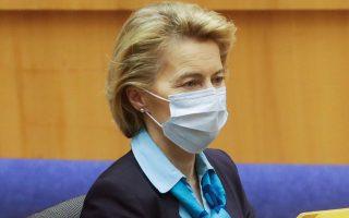 Η Ούρσουλα φον ντερ Λάιεν σε συνεδρίαση του Ευρωκοινοβουλίου.