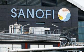 To κέντρο έρευνας και παραγωγής της γαλλικής φαρμακευτικής Sanofi στο Βιτρί-συρ-Σεν.