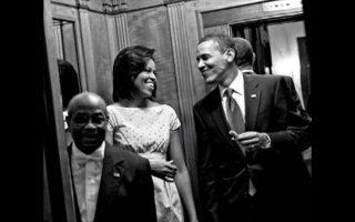 Ο Τζέρμαν με το ζεύγος Ομπάμα.