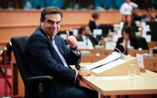 Ολα θα πάνε καλά, μοιάζει να λέει στη φωτογραφία αρχείου από τις ακροάσεις ενώπιον του Κοινοβουλίου, πέρυσι τον Οκτώβριο, ο Μαργαρίτης Σχοινάς.