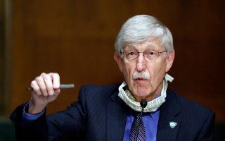 Ο διευθυντής του Εθνικού Ινστιτούτου Υγείας, Φράνσις Κόλινς, κατέθεσε ενώπιον επιτροπής της Γερουσίας για τα τεστ και το εμβόλιο.