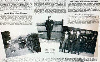Τα περιοδικά της εποχής δημοσιεύουν φωτογραφίες του φημισμένου πιανίστα Leopold Godowsky, φορώντας χειρουργική μάσκα στο σπίτι του στο Σαν Φρανσίσκο.