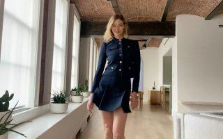 Το διάσημο μοντέλο Κάρλι Κλος σε κατ' οίκον πασαρέλα.
