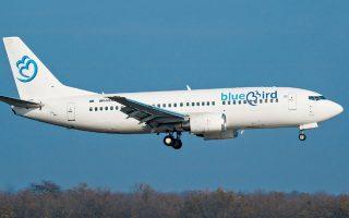 Η Blue Bird, η οποία έχει ως βάση το Ηράκλειο Κρήτης και πραγματοποιεί  πτήσεις από Ηράκλειο, Κω, Ρόδο, Μύκονο και Θεσσαλονίκη, αναμένει την άδεια των αρχών για να ξεκινήσει εκ νέου πτήσεις από και προς το Τελ Αβίβ.