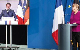 Η Γερμανίδα καγκελάριος Αγκελα Μέρκελ και ο Γάλλος πρόεδρος Εμανουέλ Μακρόν πρότειναν ένα (προσωρινό) Ταμείο Ανάκαμψης (η έγκριση του οποίου είχε γίνει επί της αρχής από το Ευρωπαϊκό Συμβούλιο στις 27 Μαρτίου), ύψους περίπου 500 δισ. ευρώ, που αντιστοιχεί στο 3,6% του ΑΕΠ της Ε.Ε. των «27».