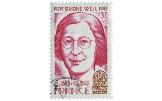 Γραμματόσημο των Γαλλικών Ταχυδρομείων, του 1979, προς τιμήν της φιλοσόφου και πολιτικής ακτιβίστριας Σιμόν Βέιλ (1909-1943).