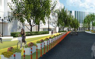 Μακέτα του σχεδίου για την οδό Πανεπιστημίου.