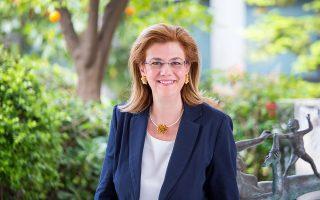 Η Αντιπρόεδρος Διοίκησης του Αμερικανικού Κολλεγίου Ελλάδος, κα Ηλιάνα Λαζανά.