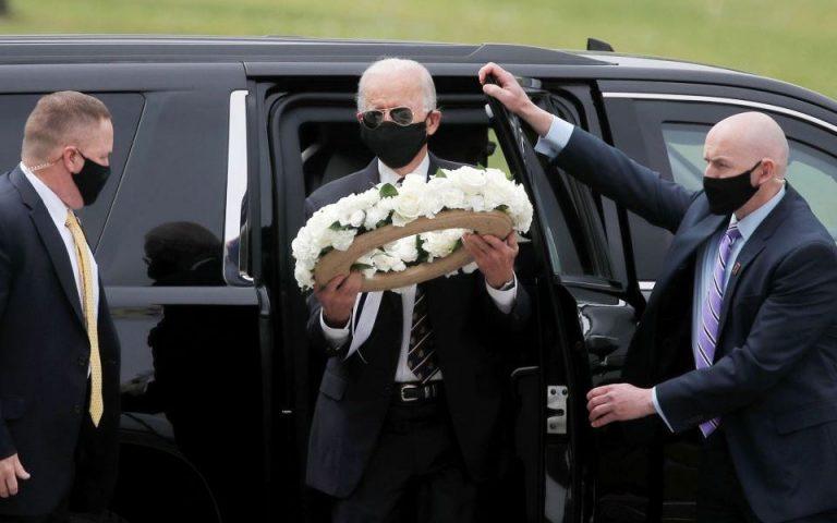Πρώτη δημόσια εμφάνιση του Τζο Μπάιντεν με μάσκα εδώ και δύο μήνες