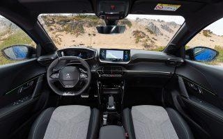 Το εσωτερικό του Peugeot 208, «Αυτοκινήτου της χρονιάς 2020» τόσο στην Ελλάδα όσο και στην Ευρώπη.