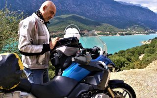 O Αντ. Ιορδάνογλου έχει γυρίσει όλη την Ελλάδα με τη μηχανή του.