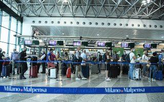 Το αεροδρόμιο Μαλπένσα του Μιλάνου ζωντανεύει και πάλι (φωτ. A.P.).