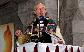Ο Αρχιεπίσκοπος Καντουαρίας Ιουστίνος (Τζάστιν Ουέλμπι), συμβολικός ηγέτης της Αγγλικανικής Εκκλησίας. (Φωτ. REUTERS/Thomas Mukoya)