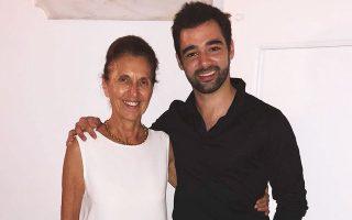 Η Τζένη Σοφιανού με τον Ισπανό σολίστ Πάμπλο Φεράντες.