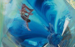 Εργο του Παναγιώτη Σιάγκρη από την έκθεση «Blue after dark».