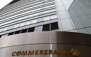 Η γερμανική τράπεζα Commerzbank σημείωσε άνοδο 5,7%.