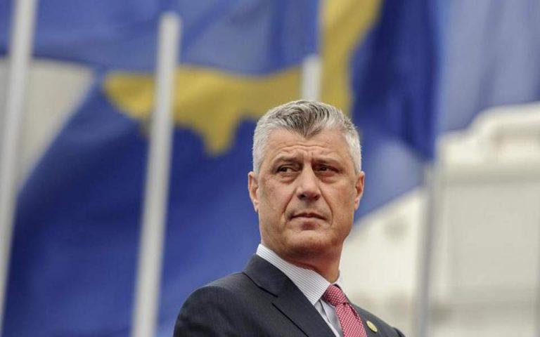 Χάγη: Κατηγορούμενος για εγκλήματα πολέμου ο πρόεδρος του Κοσόβου Χασίμ Θάτσι