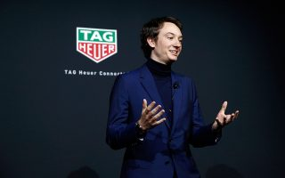 NEW YORK, NEW YORK - MARCH 12: Frederic Arnault,.Chief Strategy & Digital Officer TAG Heuer speaks onstage during The Launch of The New Connected Watch by TAG Heuer at The Caldwell Factory on March 12, 2020 in New York City. (Photo by Brian Ach/Getty Images  for TAG Heuer )