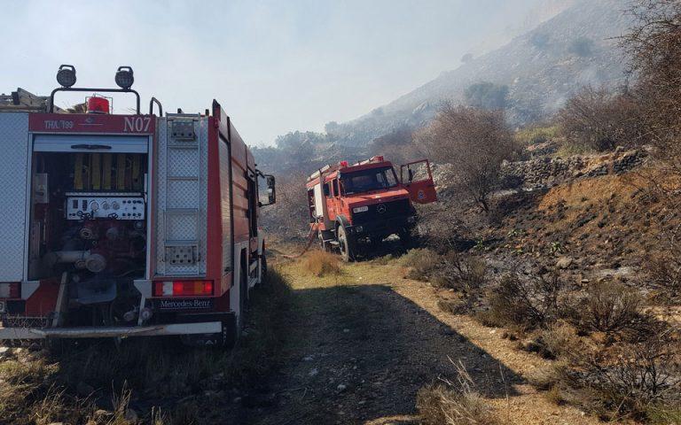 Οριοθετήθηκε η πυρκαγιά στην Κάρυστο